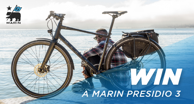 You could be the lucky winner of the all-new Marin Presidio.