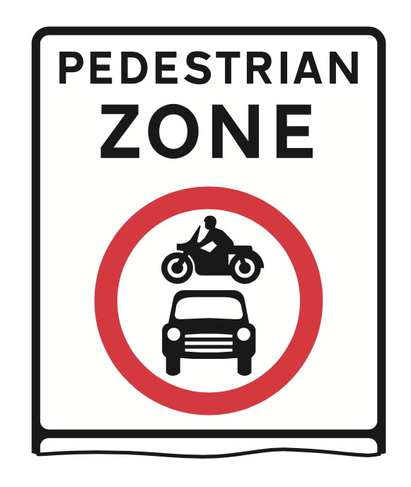 Pedestrian zone sign