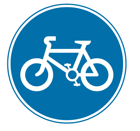 Cyclists only sign