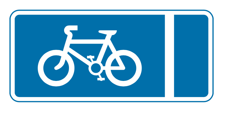 Mandatory with-flow pedal cycle lane