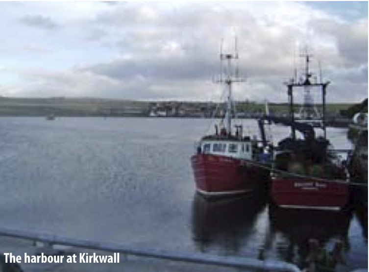 The harbour at Kirkwall