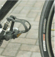 toe overclip on a bike