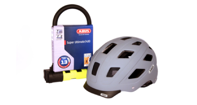 Win 1 of 5 ABUS Hyban Helmet and Super Ultimate Lock bundles