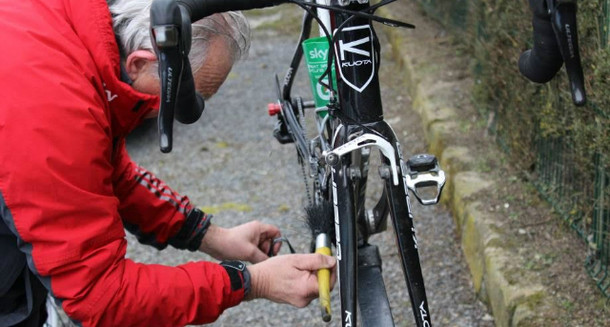 lube the bike chain