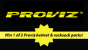Win 1 of 3 Proviz helmet & rucksack packs!