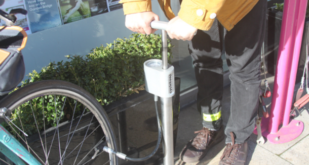 Win a compact public bike pump courtesy of Cyclehoop