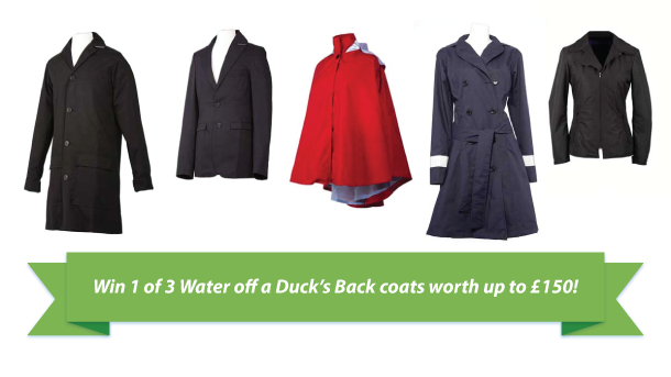 Win 1 of 3 Water off a Duck's Back coats